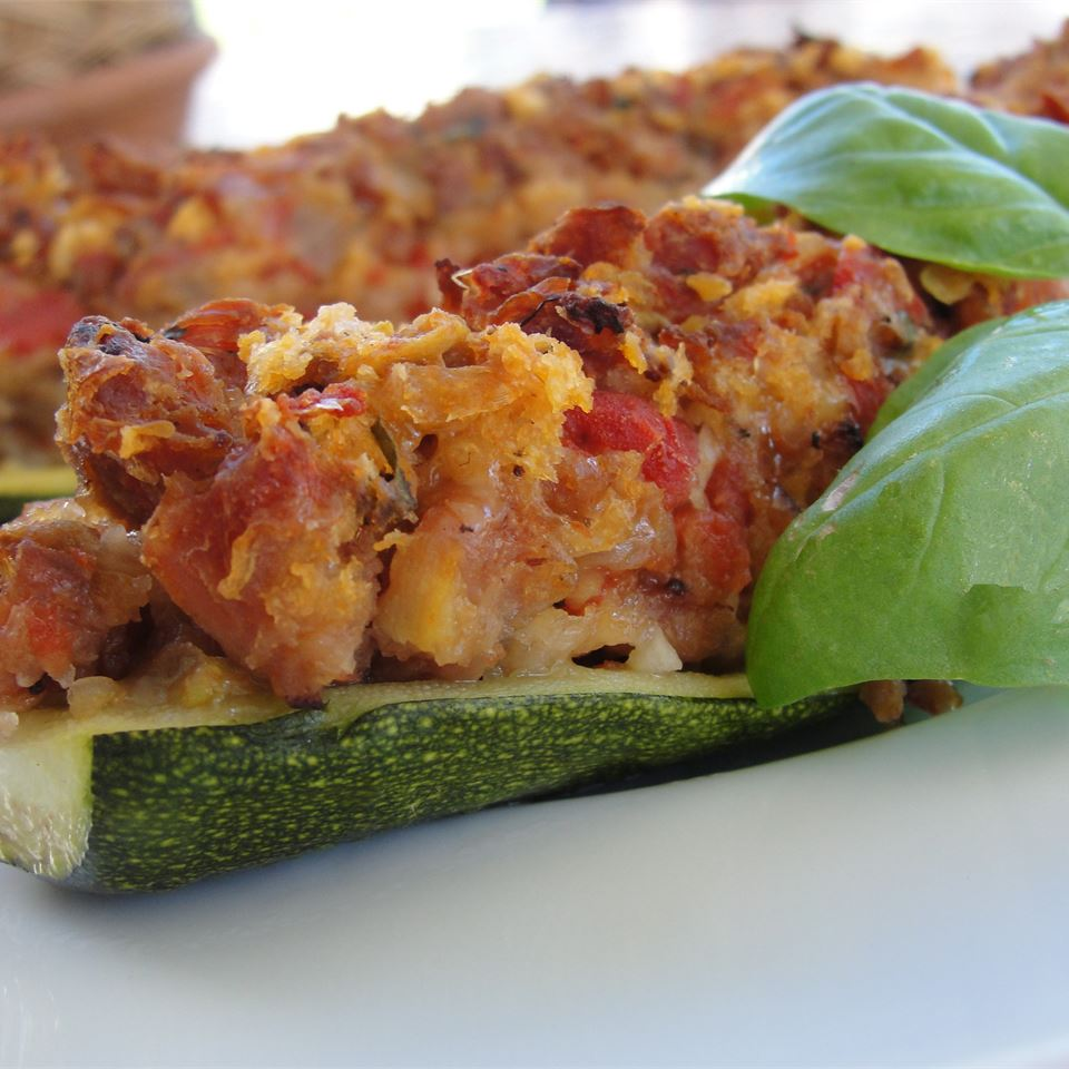 Stuffed Zucchini with Chicken Sausage Rock_lobster