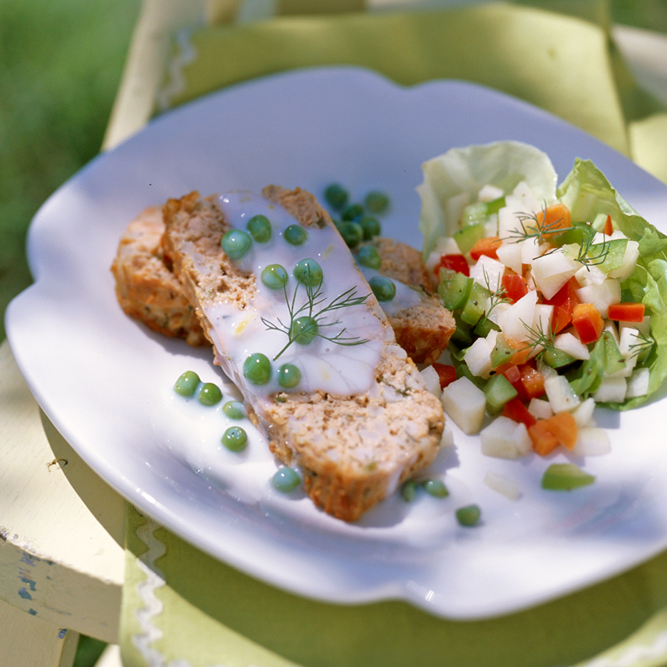 Herbed Salmon Loaf with Creamed Peas Diabetic Living Magazine