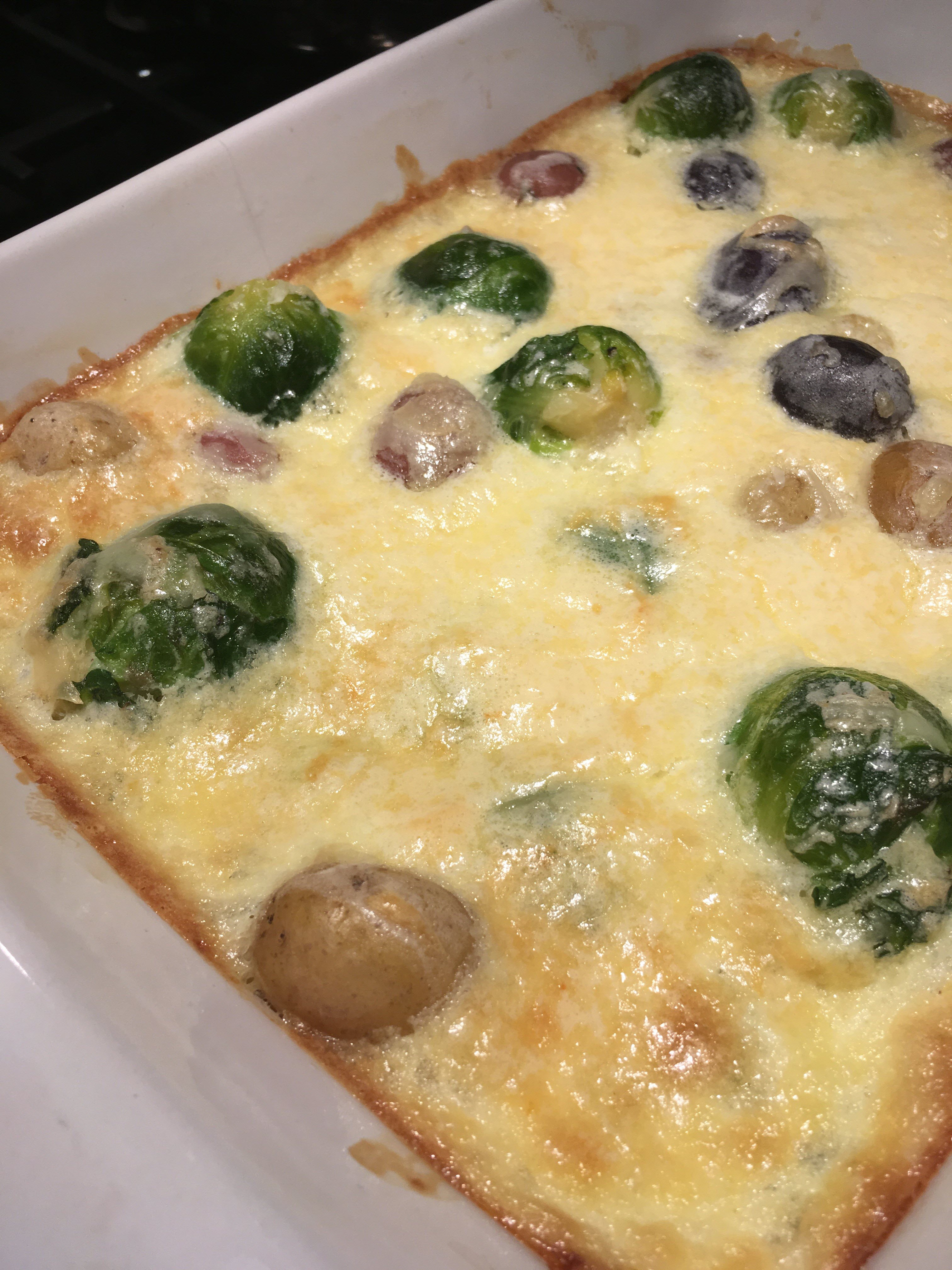 Creamy Potato-Brussels Sprouts Casserole Marianne