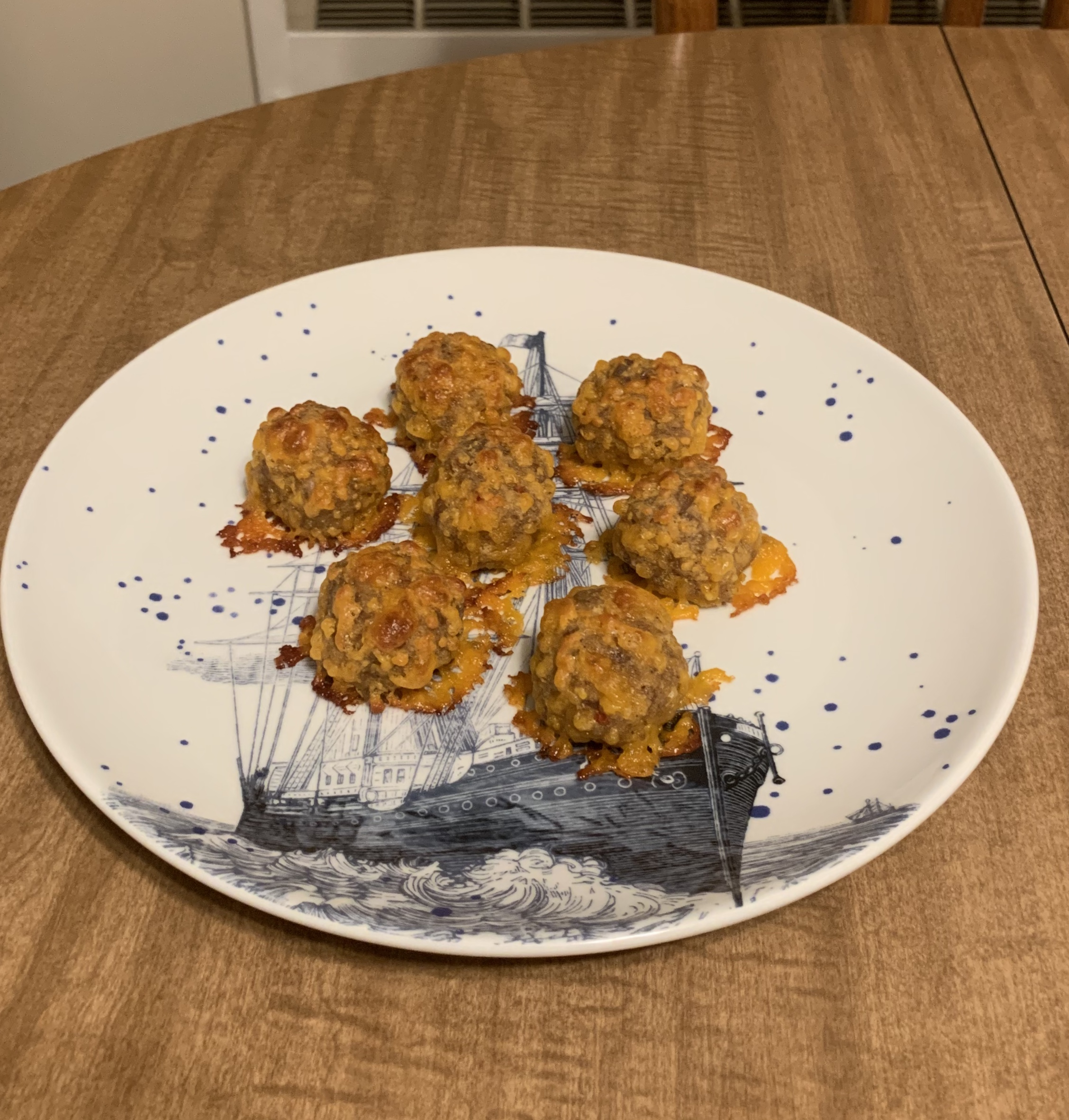 Spicy Sausage Balls without Bisquick® Mary Hillegass