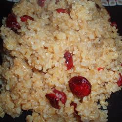 Bulgur Wheat with Dried Cranberries daveycooks