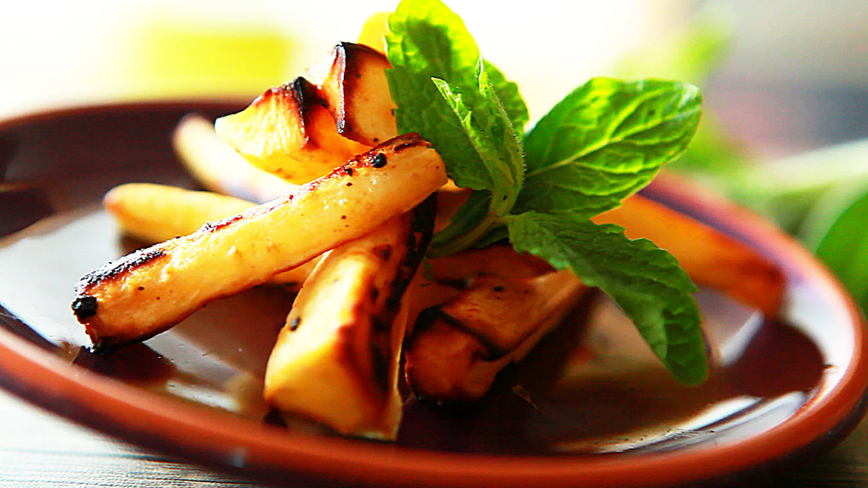 Roasted Parsnips with Mint and Sage M.Fede