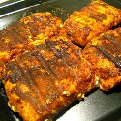 Blackened Salmon Fillets Illegally Downloading Food