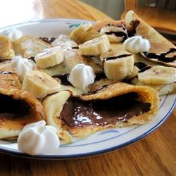Chocolate Hazelnut Fruit Crepes iamnothere814