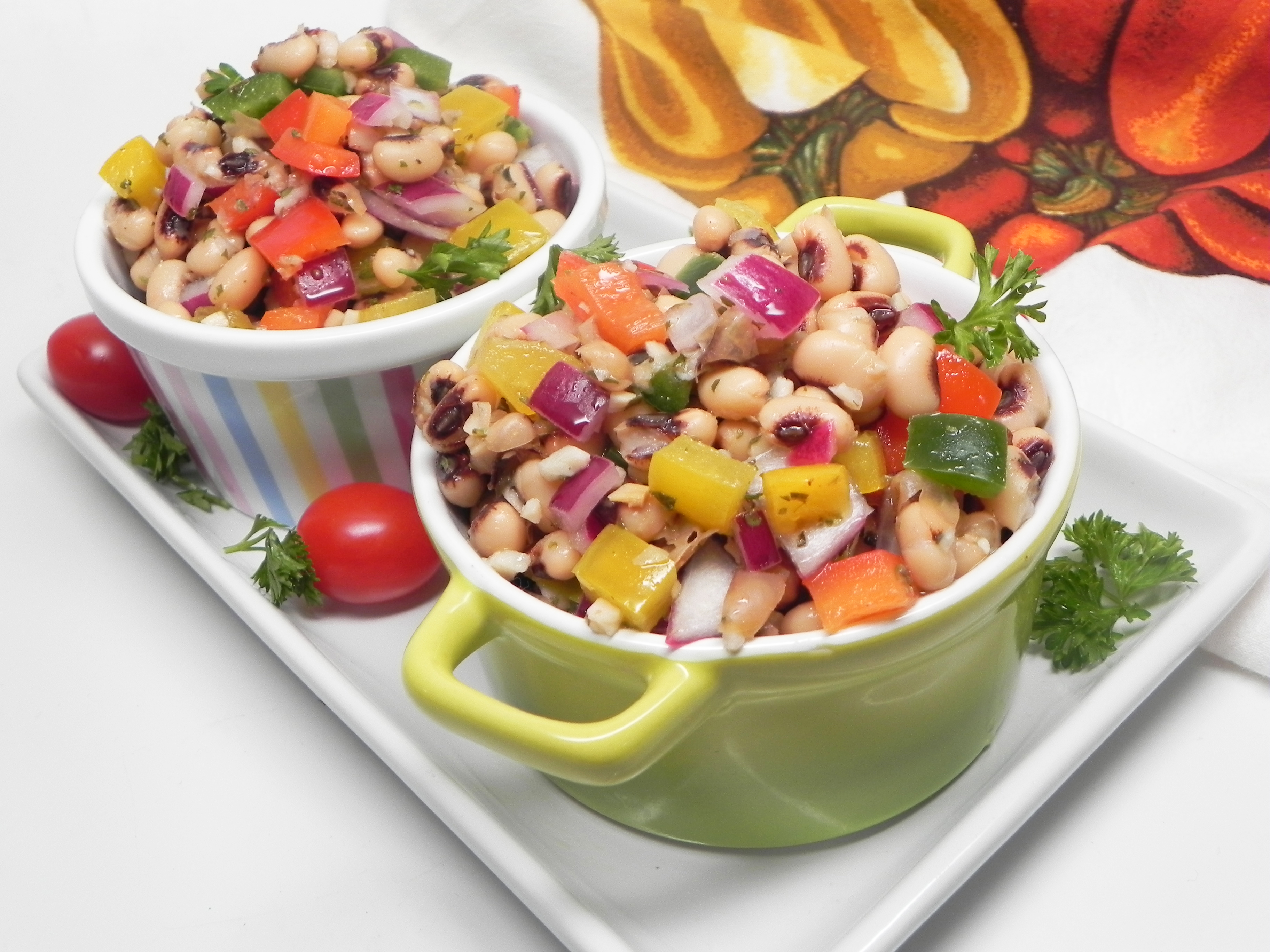 Garlic Lemon Black-Eyed Pea Salad