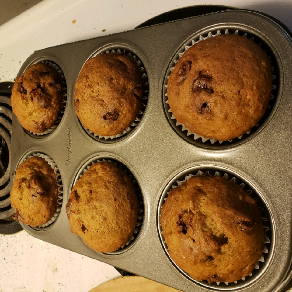 Most Requested Banana Chocolate Chip Muffins