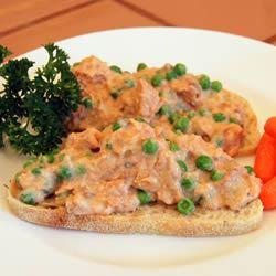 Creamed Salmon on Toast Mimi Sardini