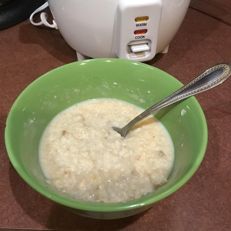 Rice Cooker Oats