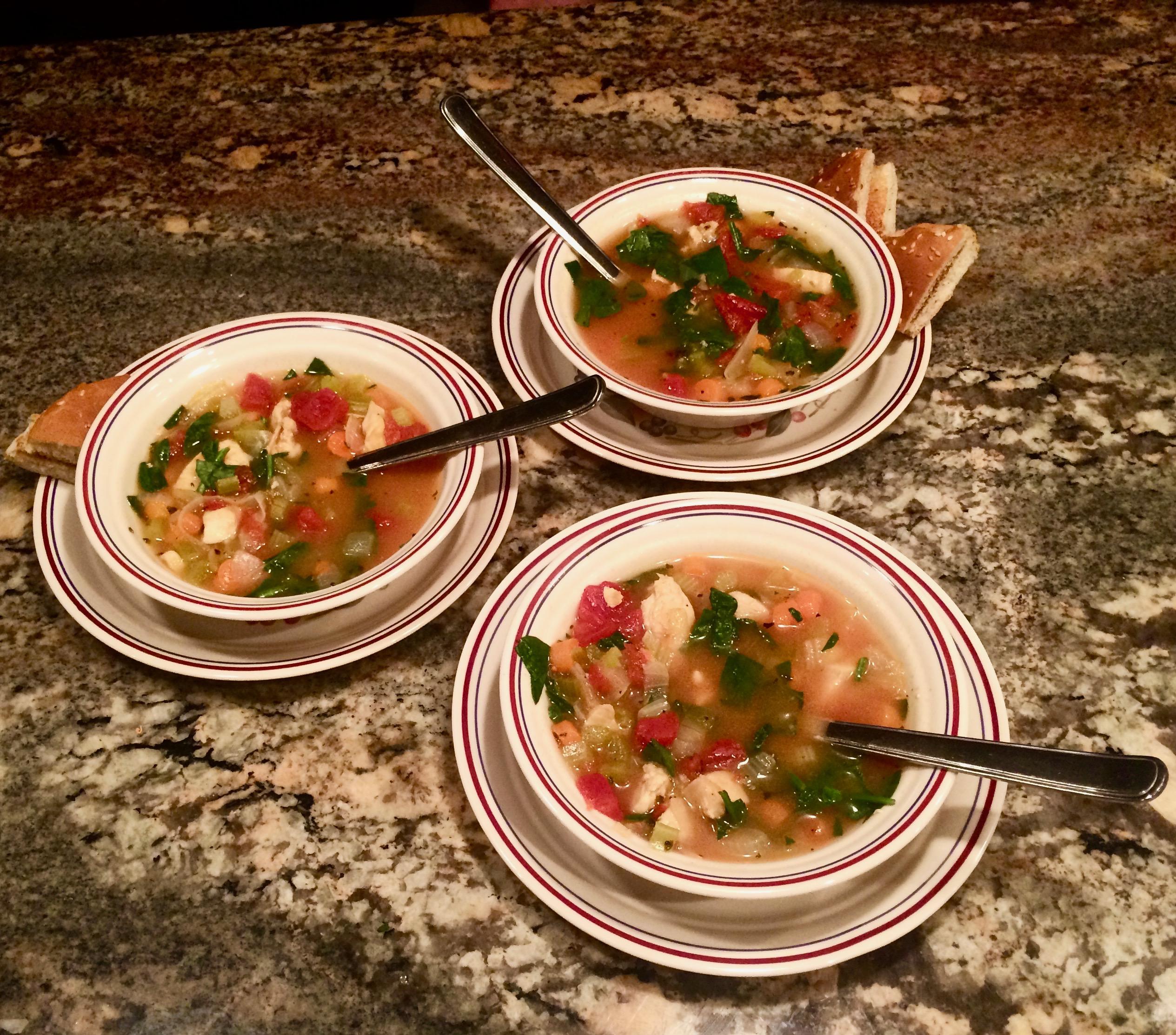 Chicken Florentine Soup Bibi