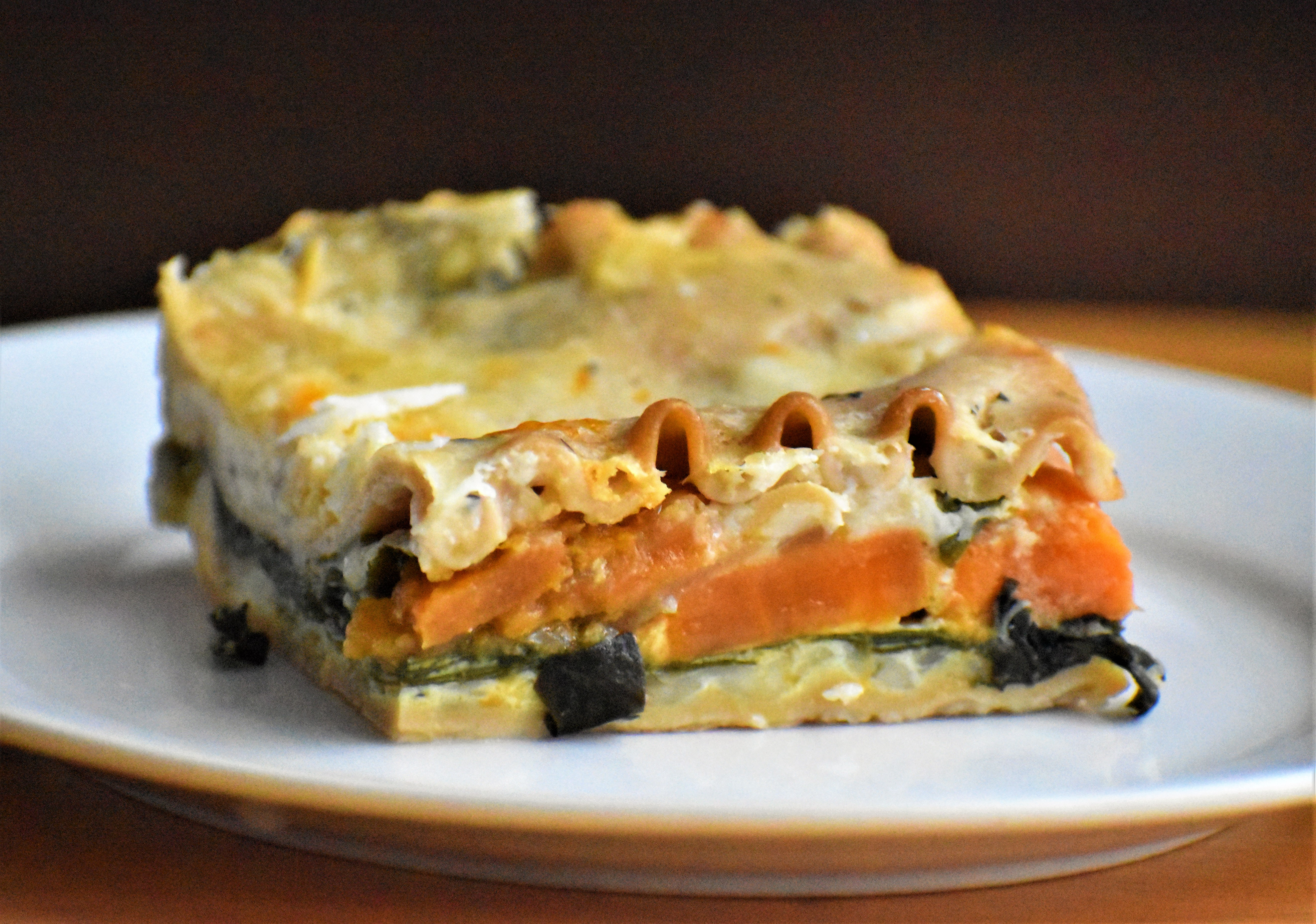 Seasonal veggies layer with creamy cheese sauce in this wintery lasagna that's perfect for vegetarians and meat-eaters alike. It's a one-dish meal, so you'll only need to serve with a side salad and a roll for sopping up the last bites of sauce.