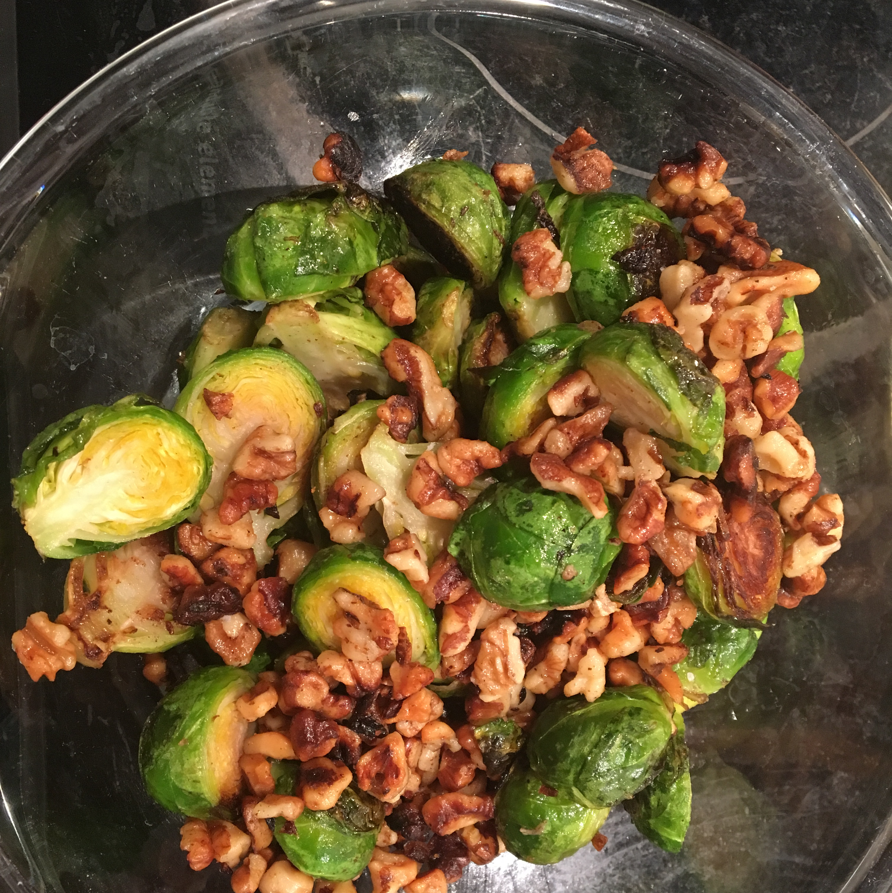 Roasted Brussels Sprouts with Pecans Irene Torres