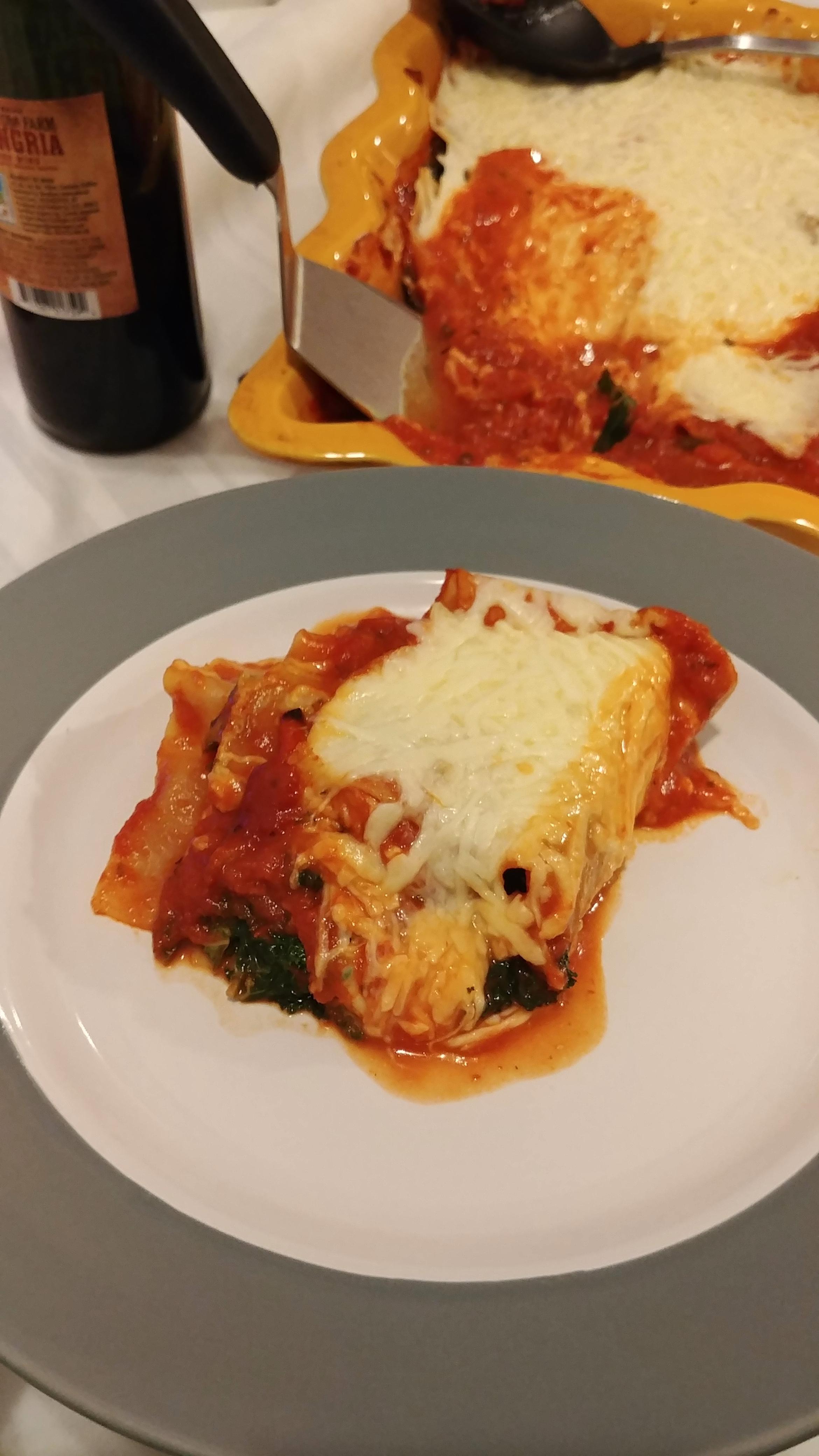 Roasted Vegetable and Kale Lasagna