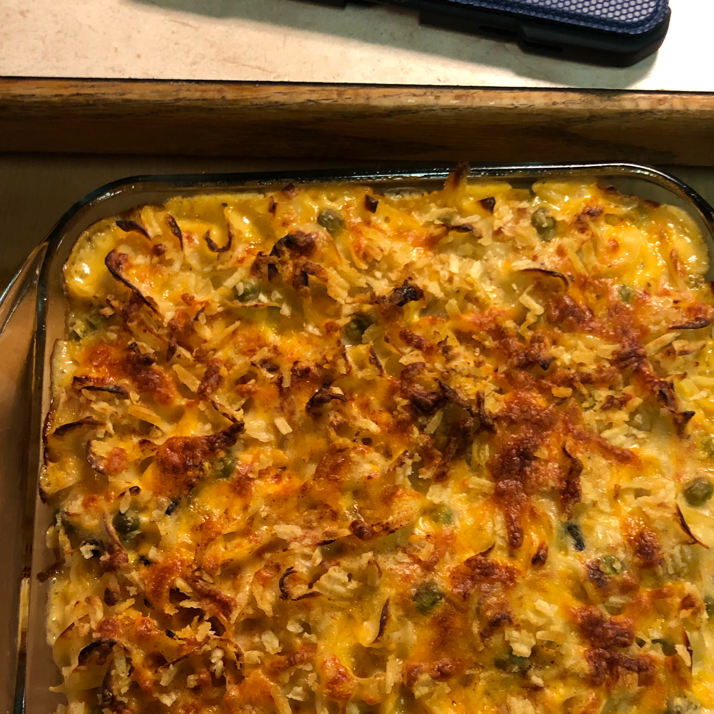 Tuna Noodle Casserole with Potato Chips