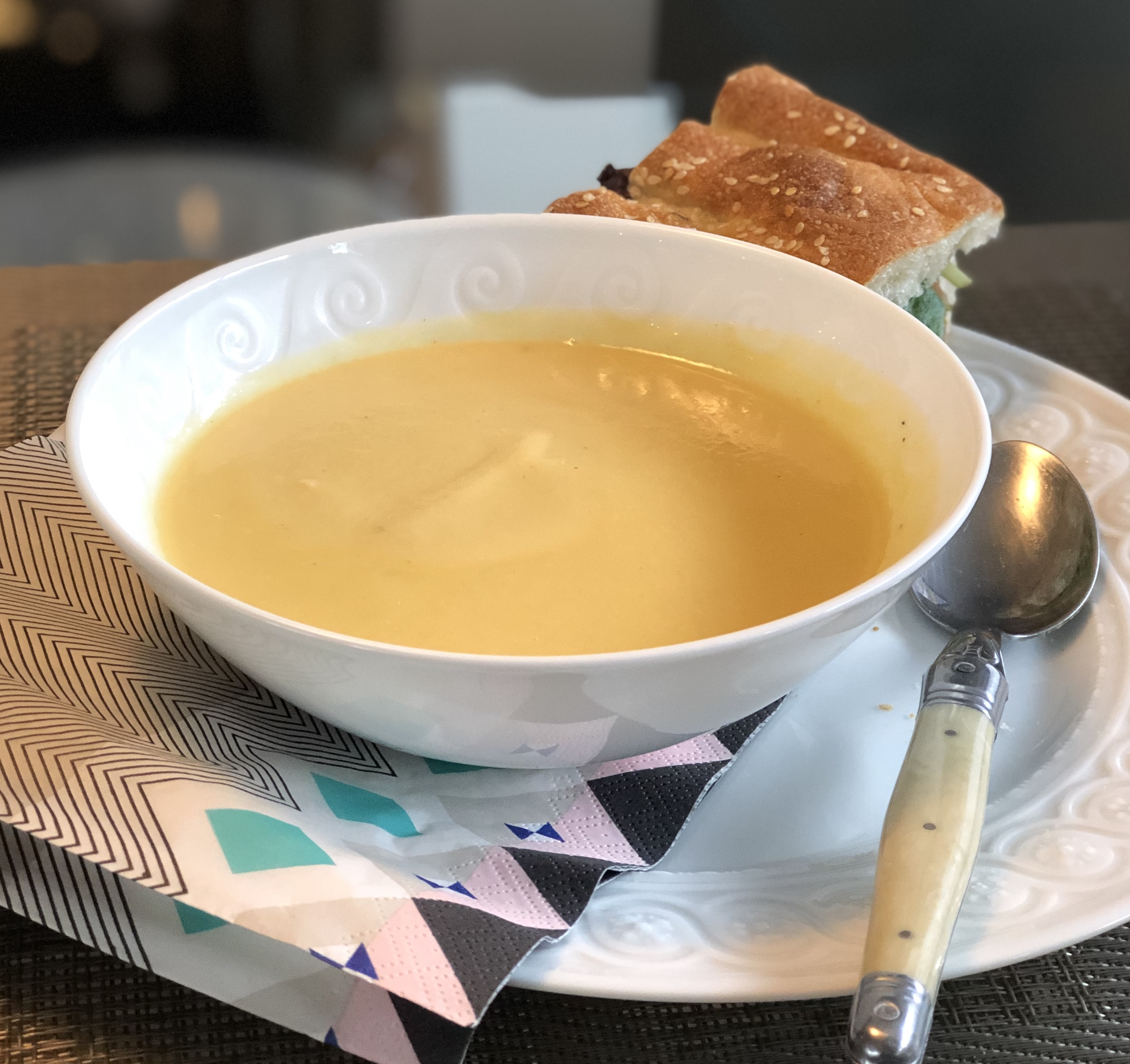 Parsnip and Japanese Sweet Potato Soup