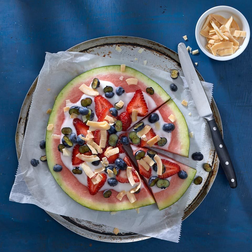 Vegan Watermelon Fruit Pizza Carolyn Casner