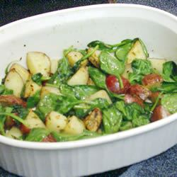 Roasted Potatoes with Greens