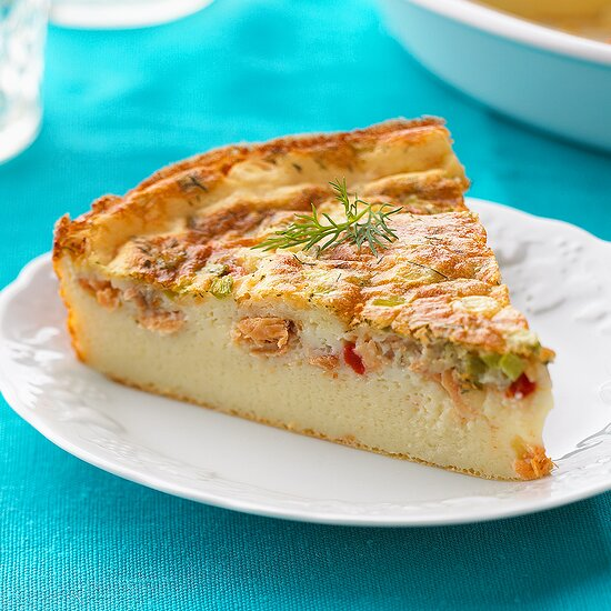 Dill Salmon Quiche ~ Eating Well