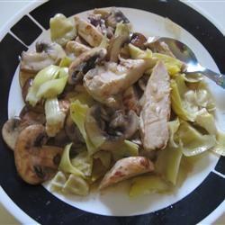 Chicken With Portobello Mushrooms and Artichokes