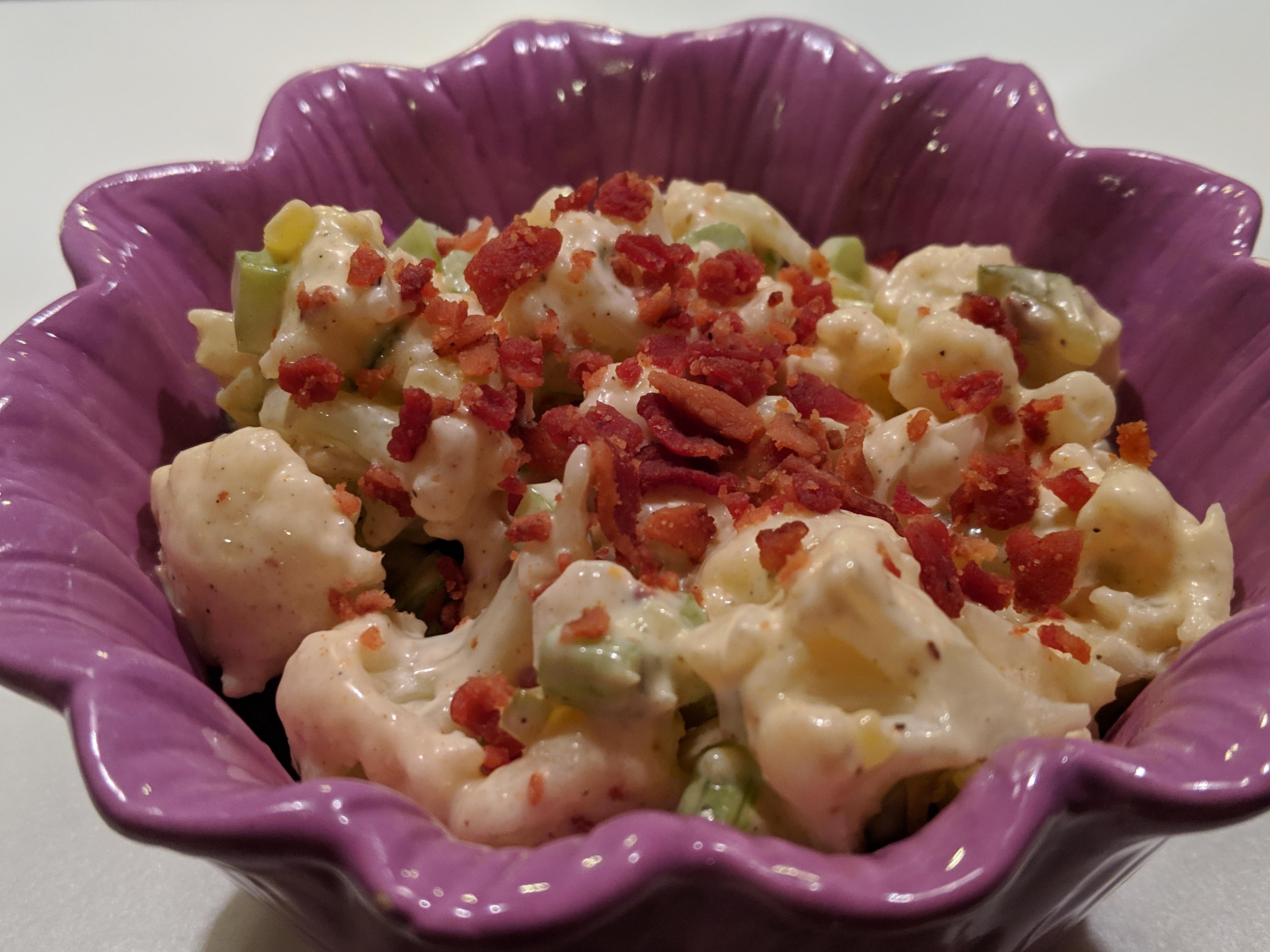 Low-Carb Cauliflower Mock Potato Salad SZYQ1