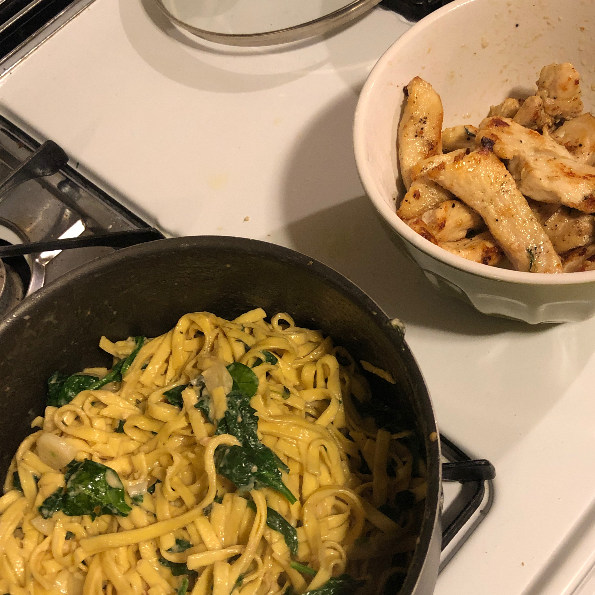 Asiago Chicken Pasta
