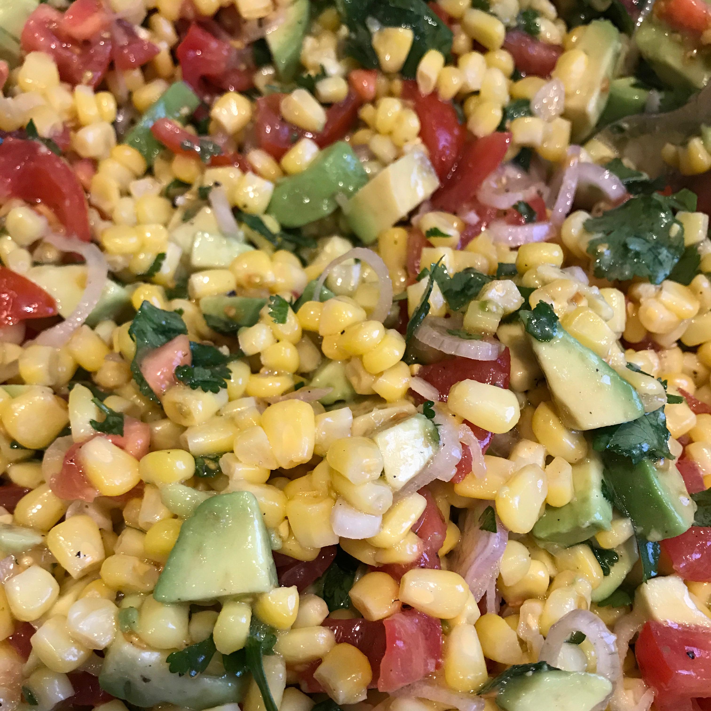 Corn Salad with Lime Vinaigrette gineta76