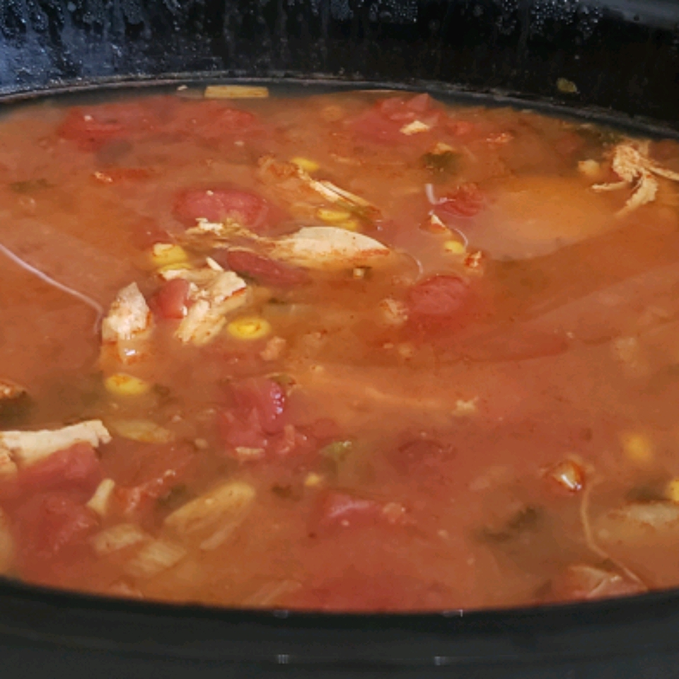Chicken Enchilada Slow Cooker Soup