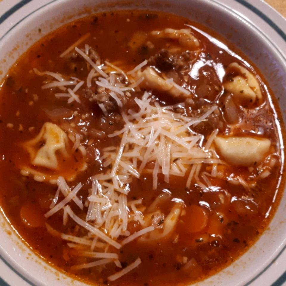 Italian Sausage Soup with Tortellini Krista