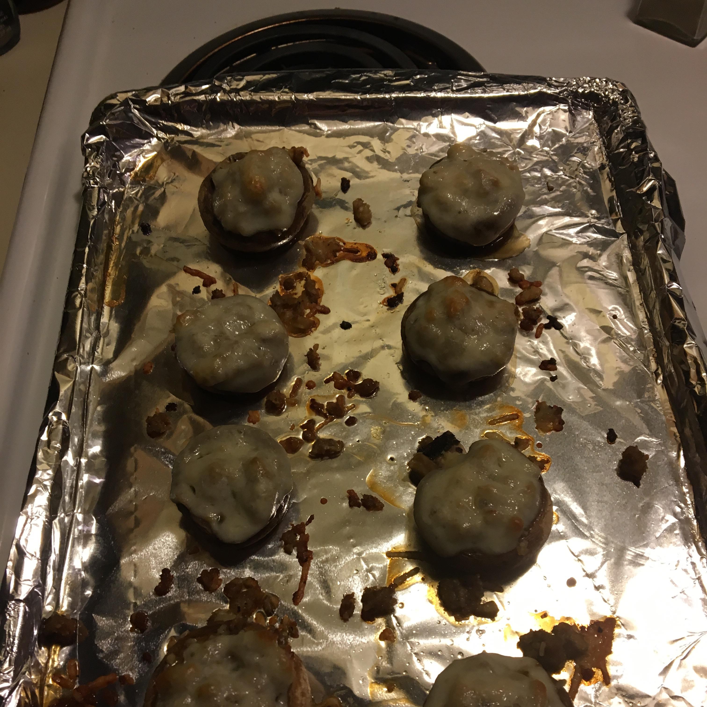 Easy Sausage Stuffed Mushrooms