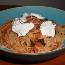 Tomato Basil Spaghettini kellieann