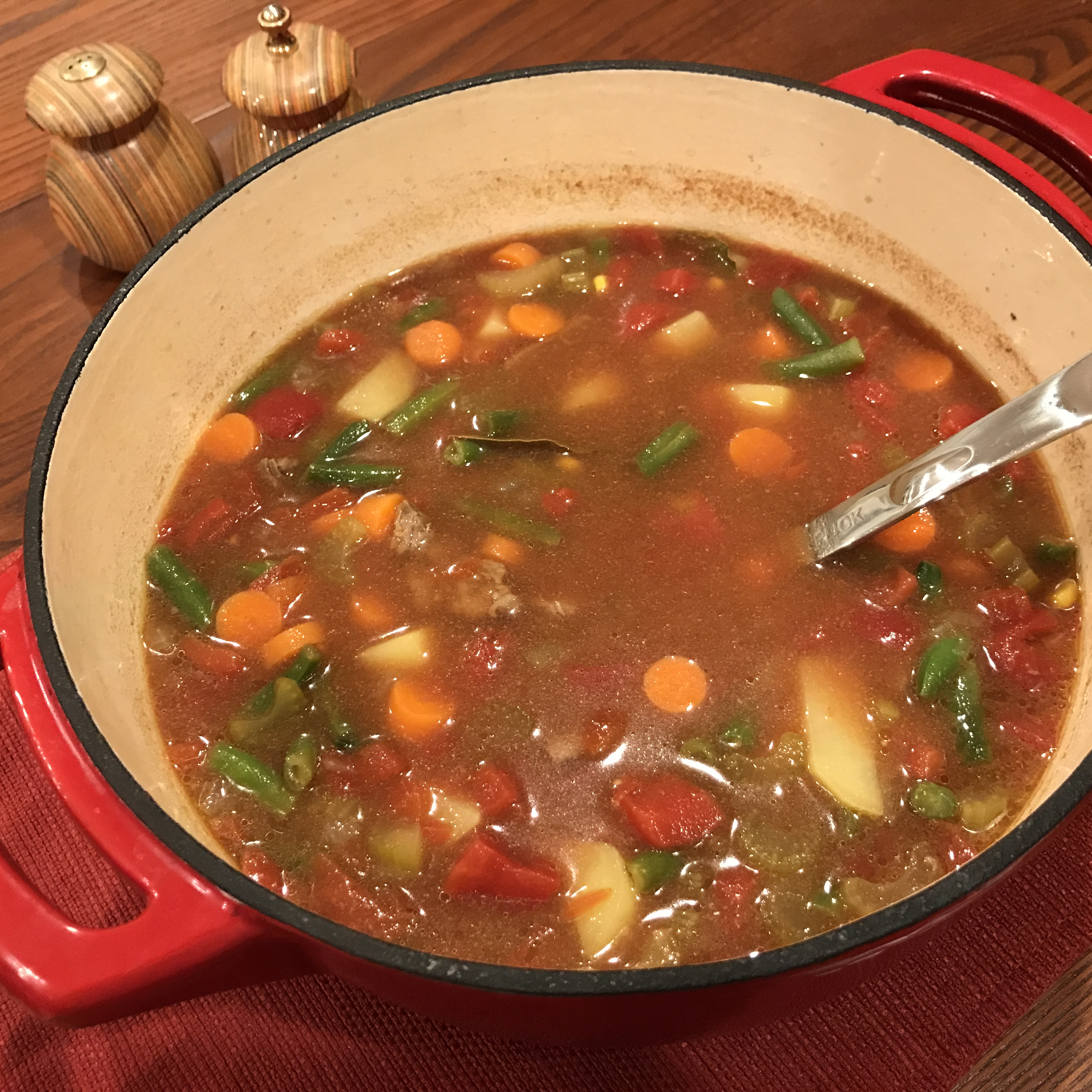 Dutch Oven Vegetable Beef Soup Rose