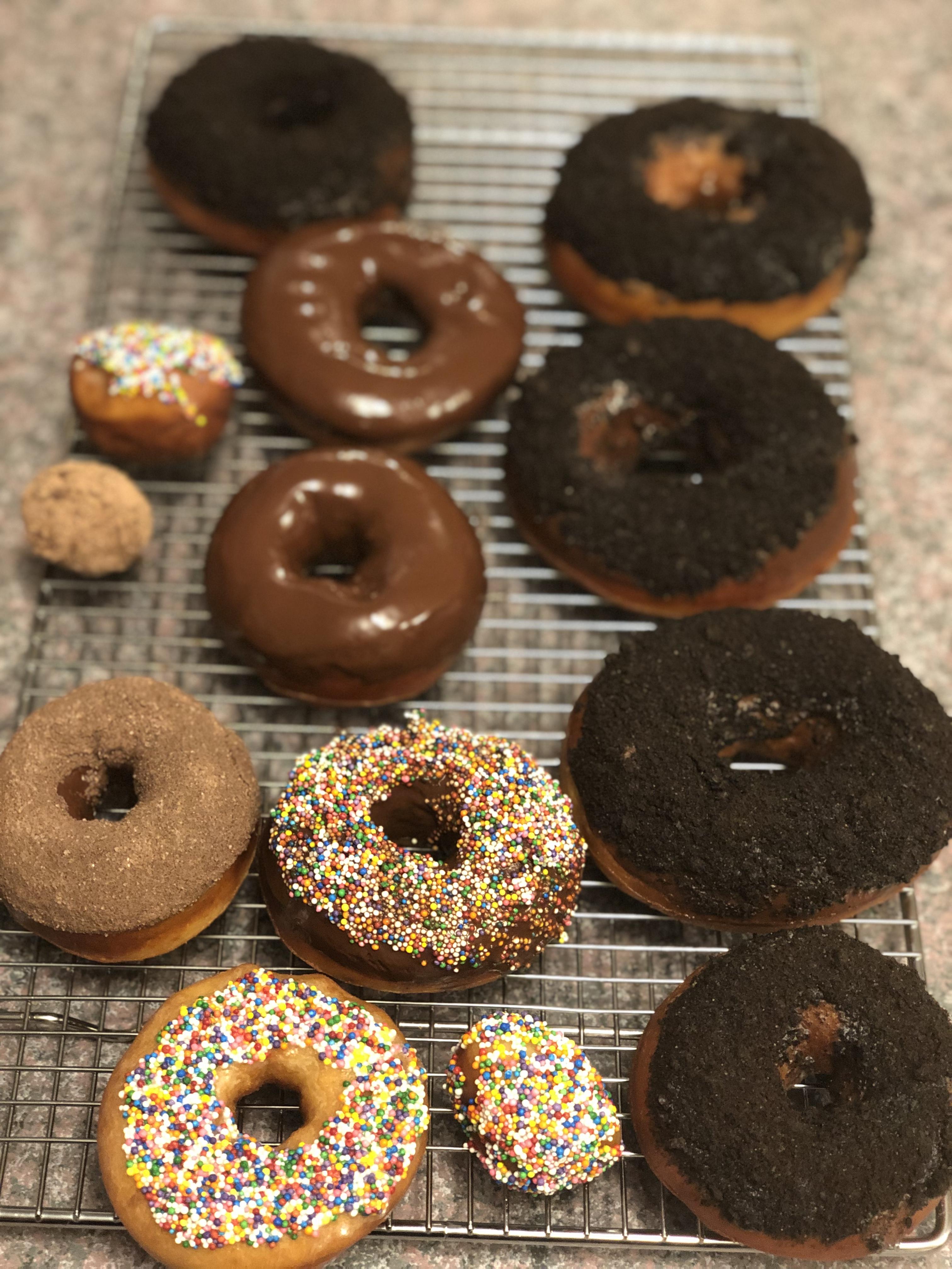 Crispy and Creamy Doughnuts Hannah English