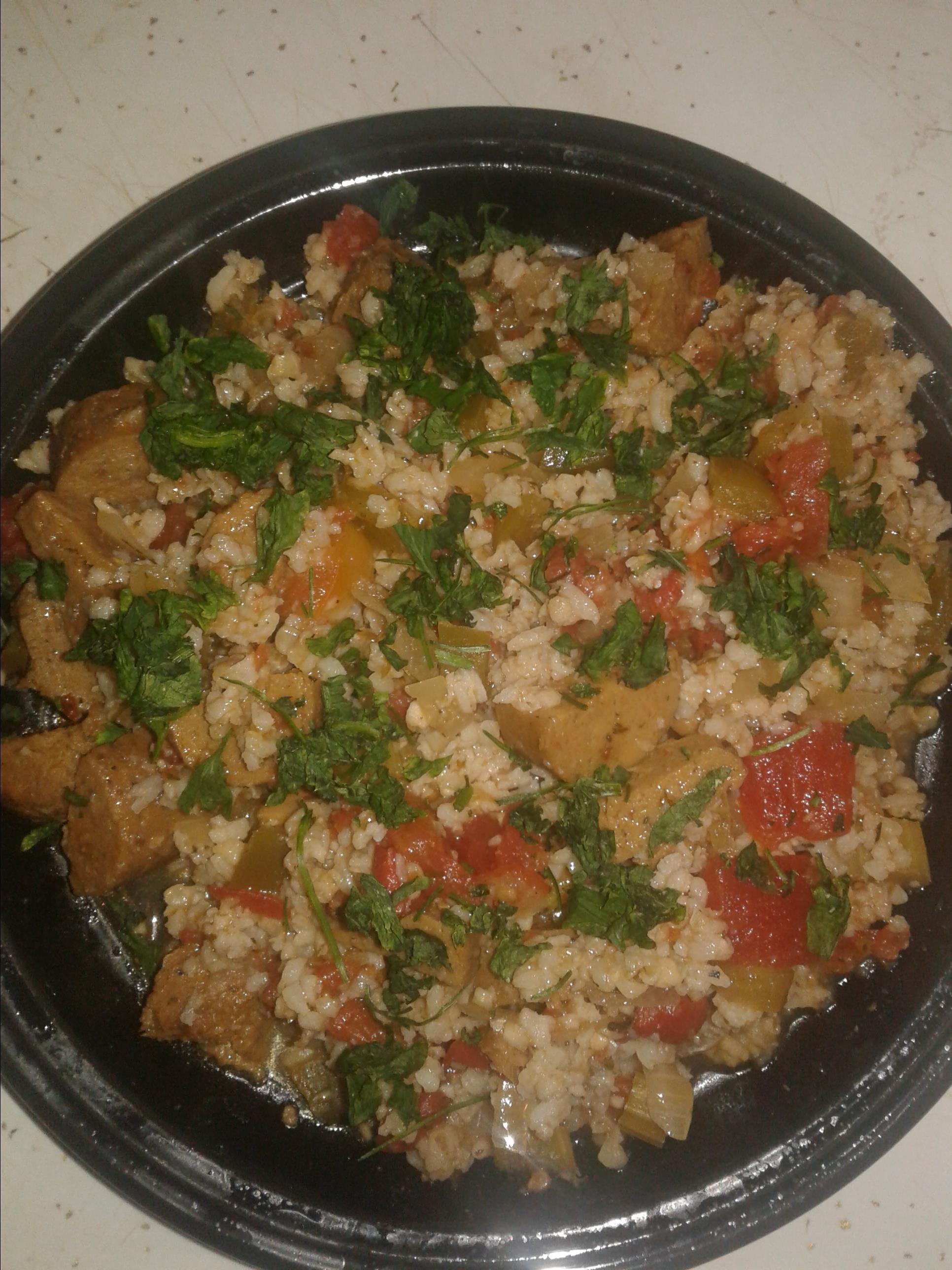 Slow Cooker Jambalaya (Vegan)