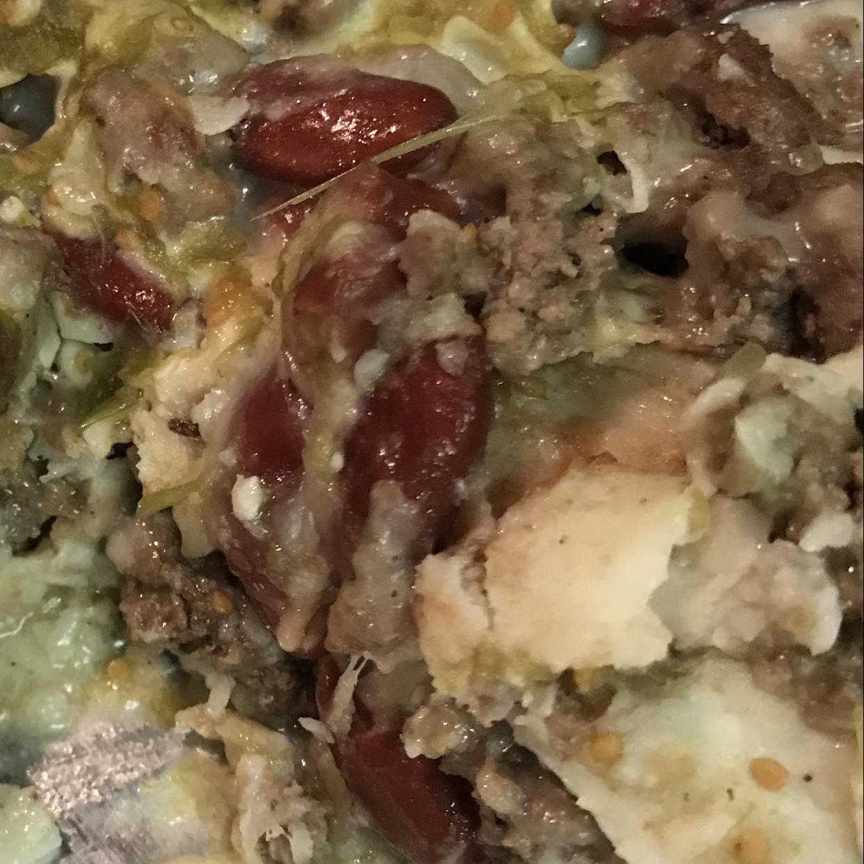 Spicy Beef and Bean Enchilada Pie Shannon Wheeler