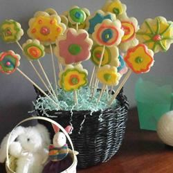 Cut-Out Cookies in a Flower Pot