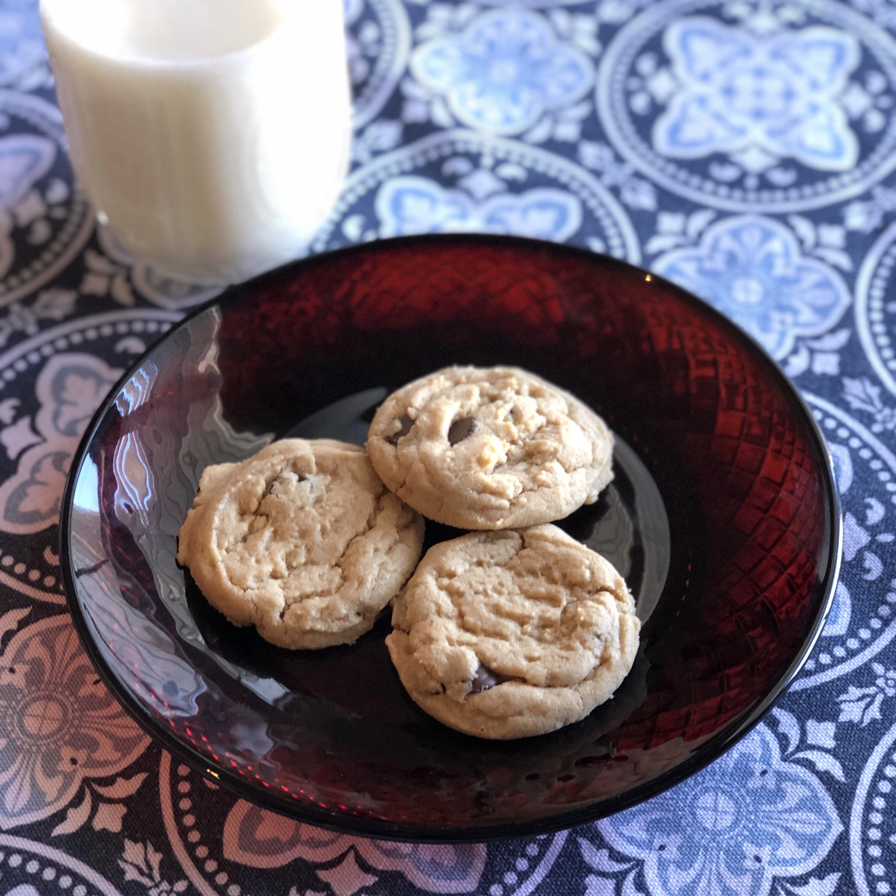 Chewy Sunflower Butter Cookies