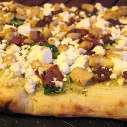 Chicken Bacon Pesto Pizza