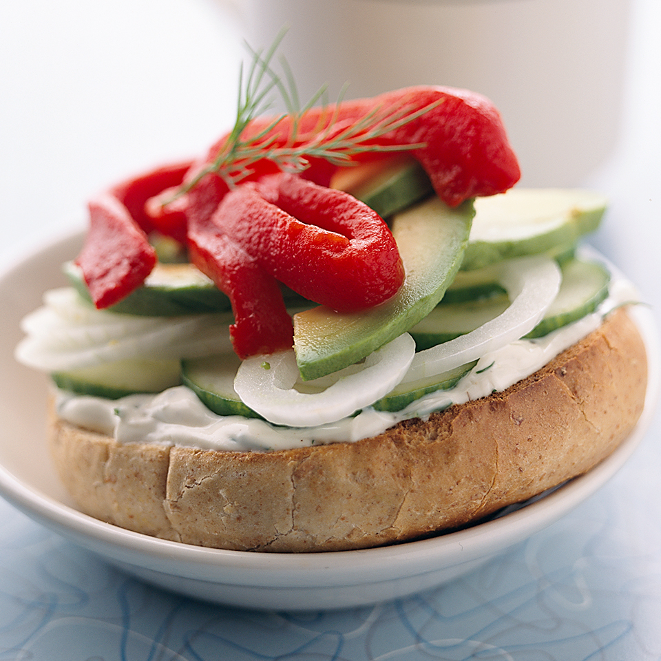 Vegetarian Cream Cheese & Bagels Diabetic Living Magazine