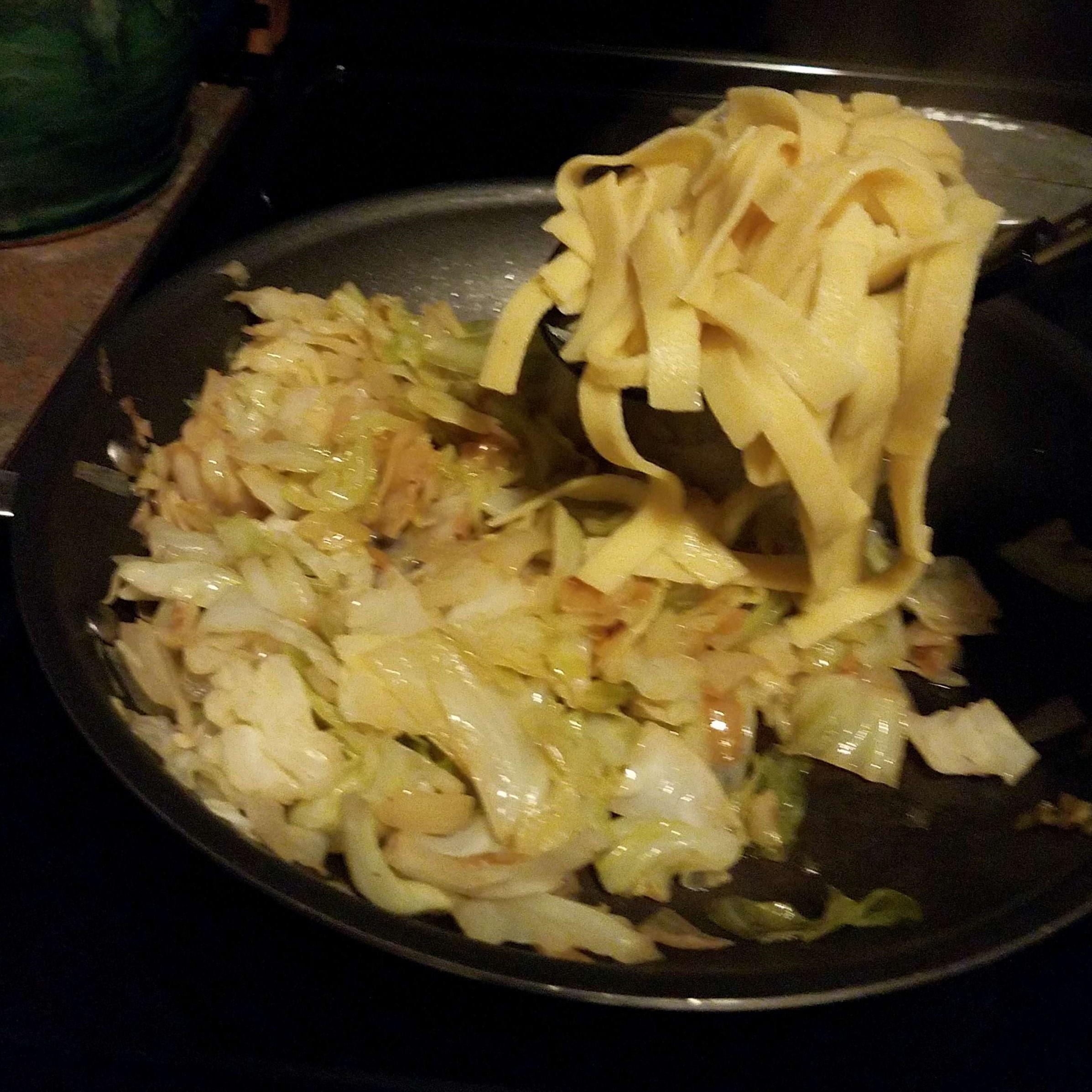 Halushki (Vegetarian Fried Cabbage and Noodles)