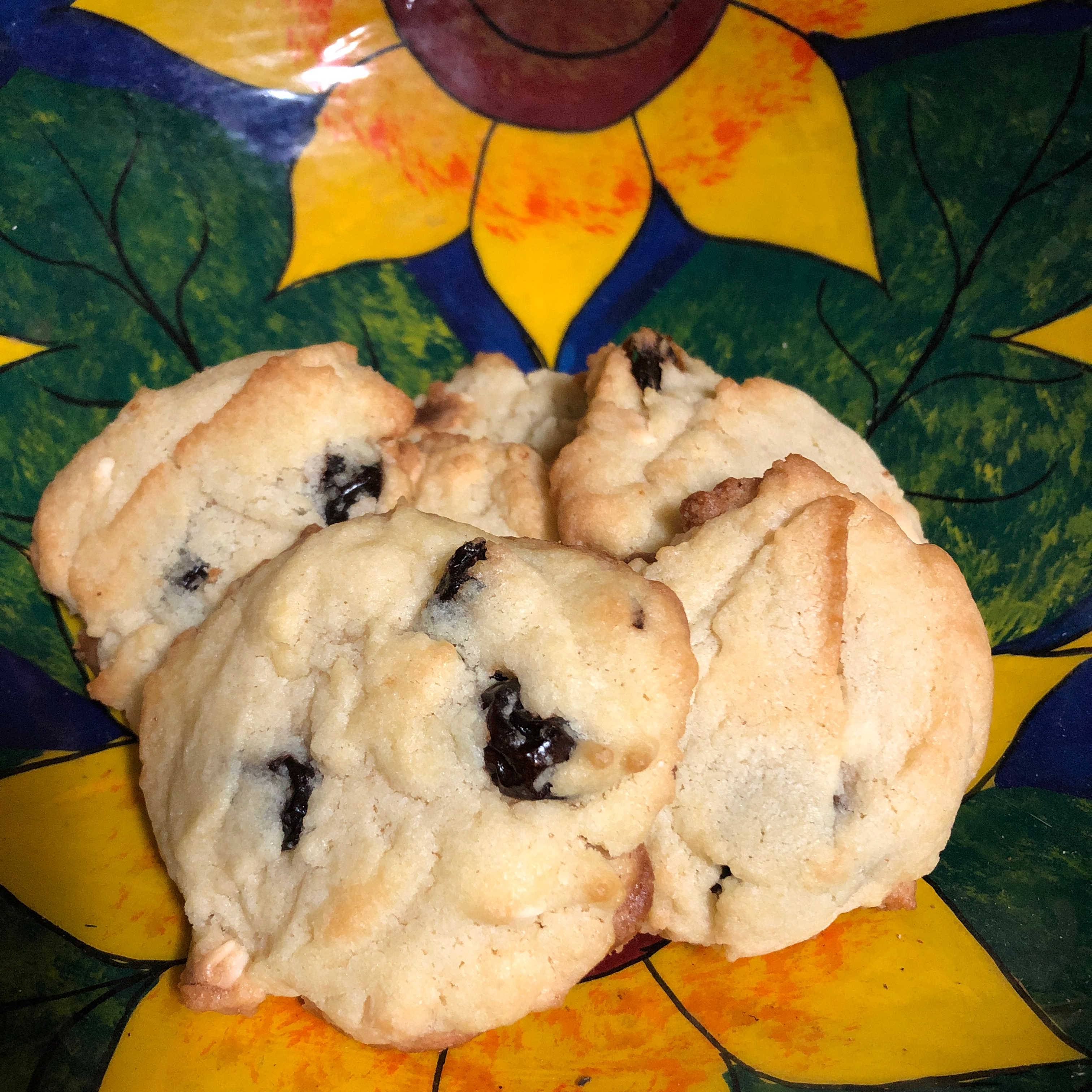 Soft Sugar Cookies With White Chocolate, Almonds, and Cranberries Lori Shellhammer Reed