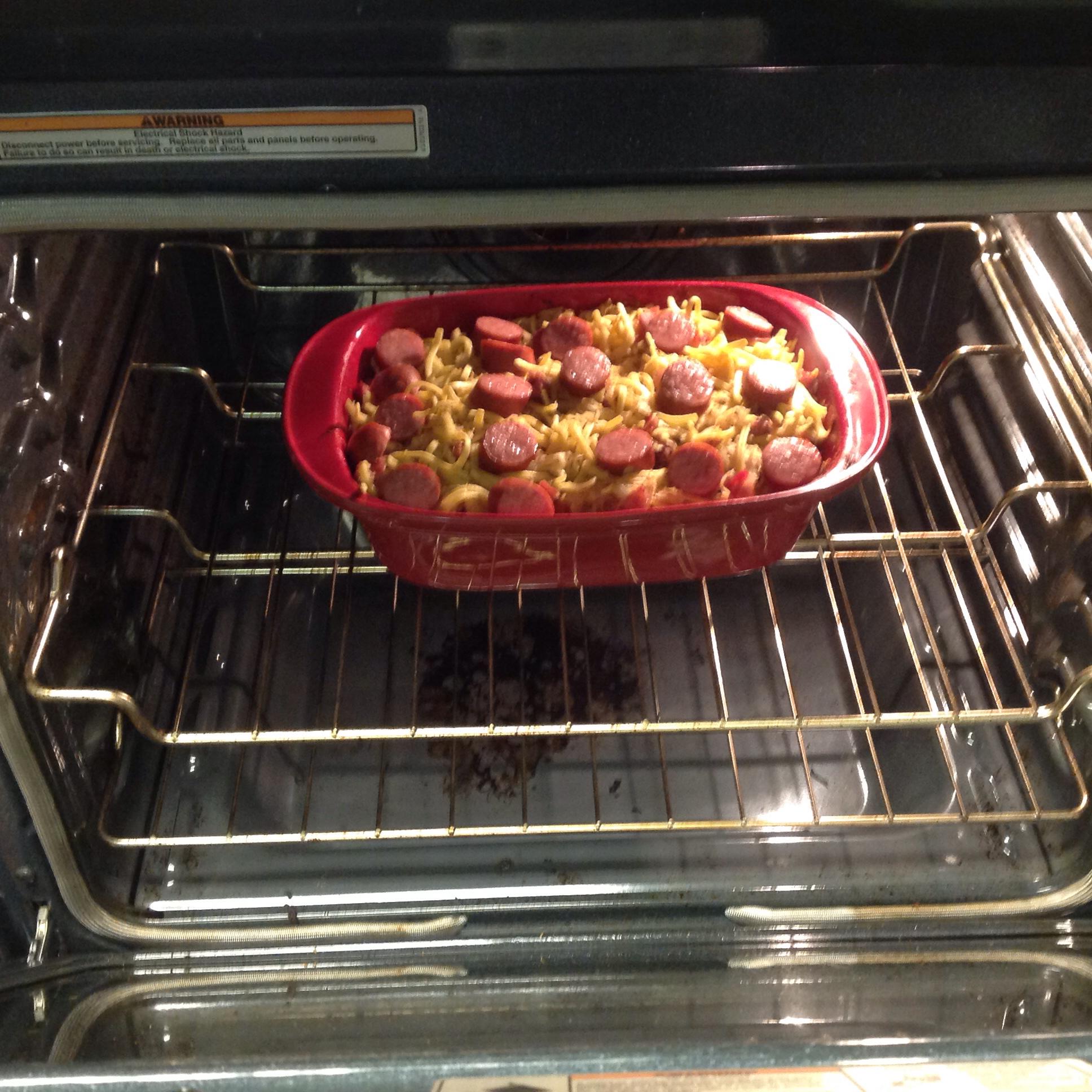 Spaetzle, Sauerkraut and Sausage Casserole