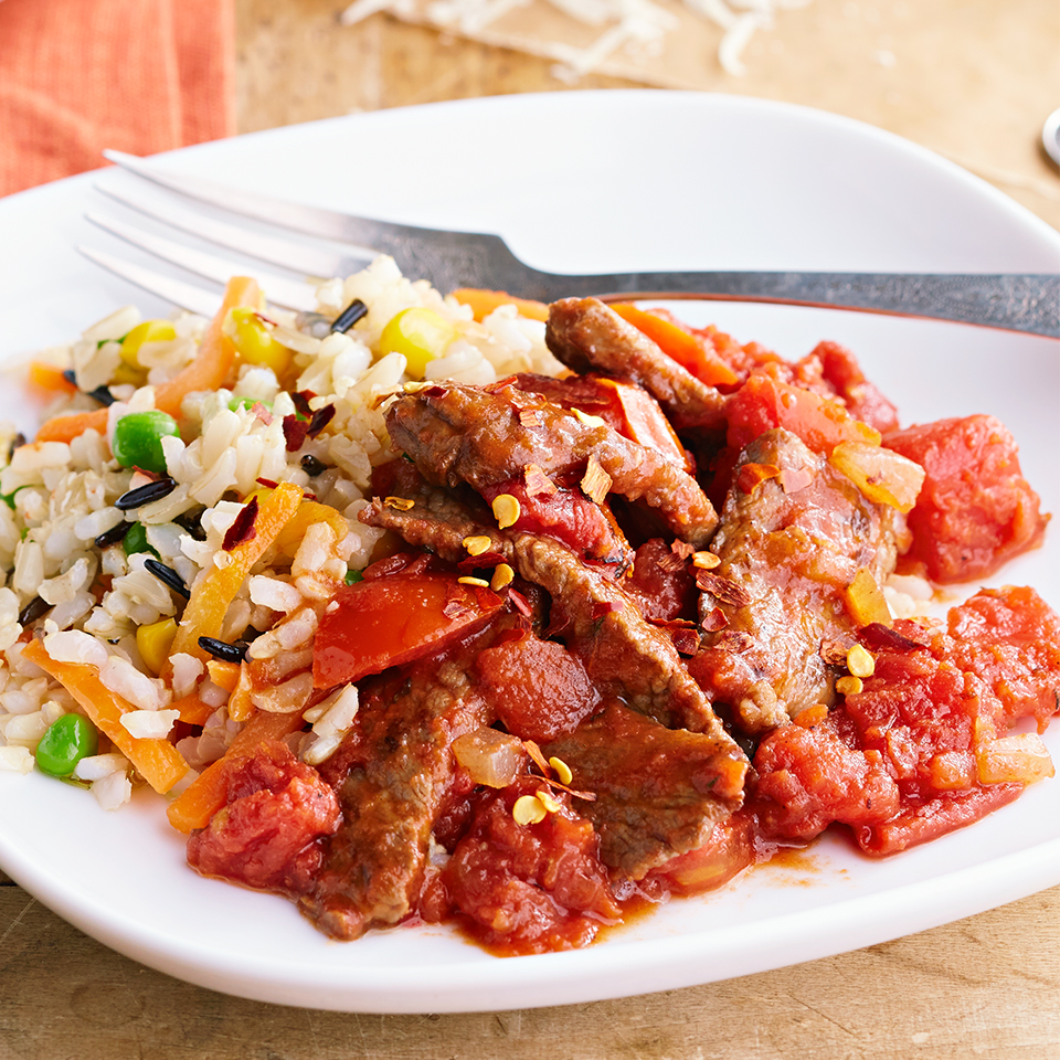 Sirloin Strips over Rice Diabetic Living Magazine