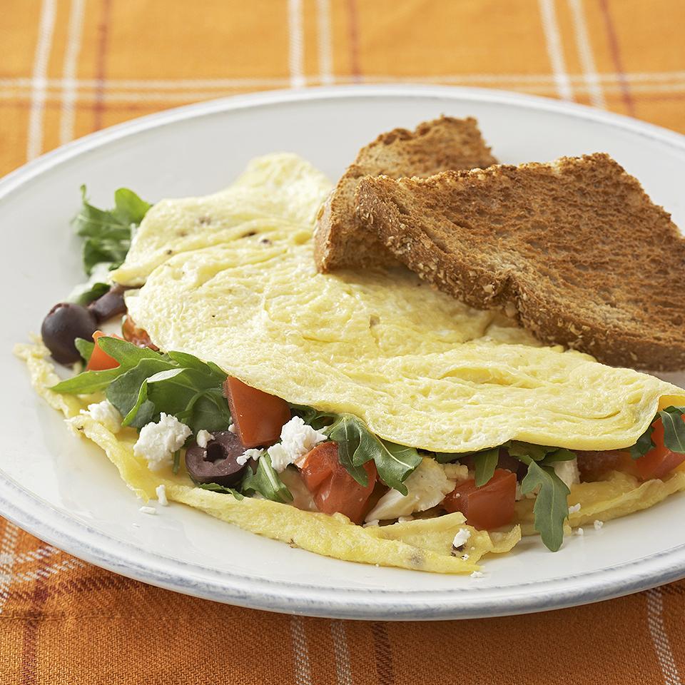 Tomato-Arugula Omelets Diabetic Living Magazine