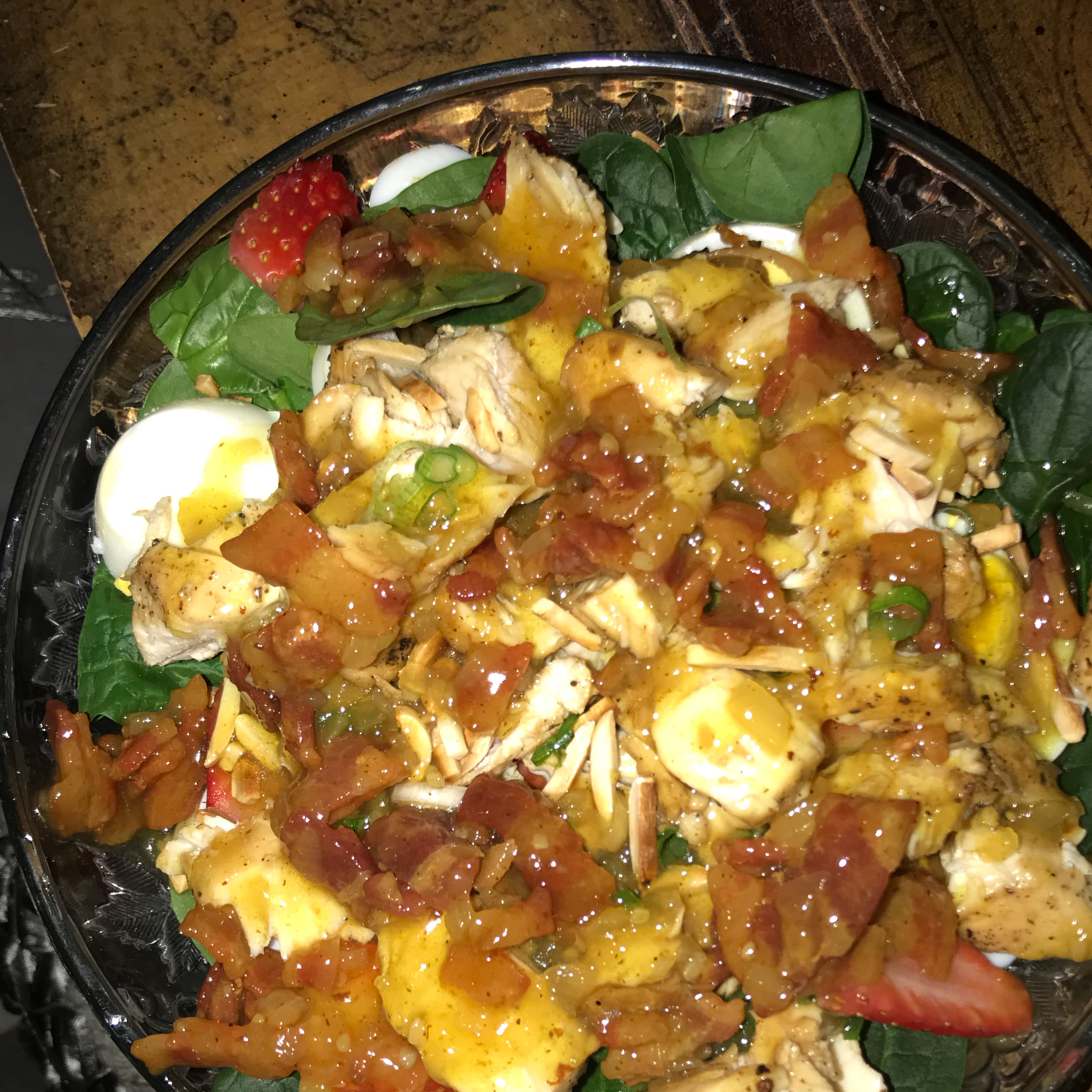 Spinach Salad with Hot Bacon Dressing
