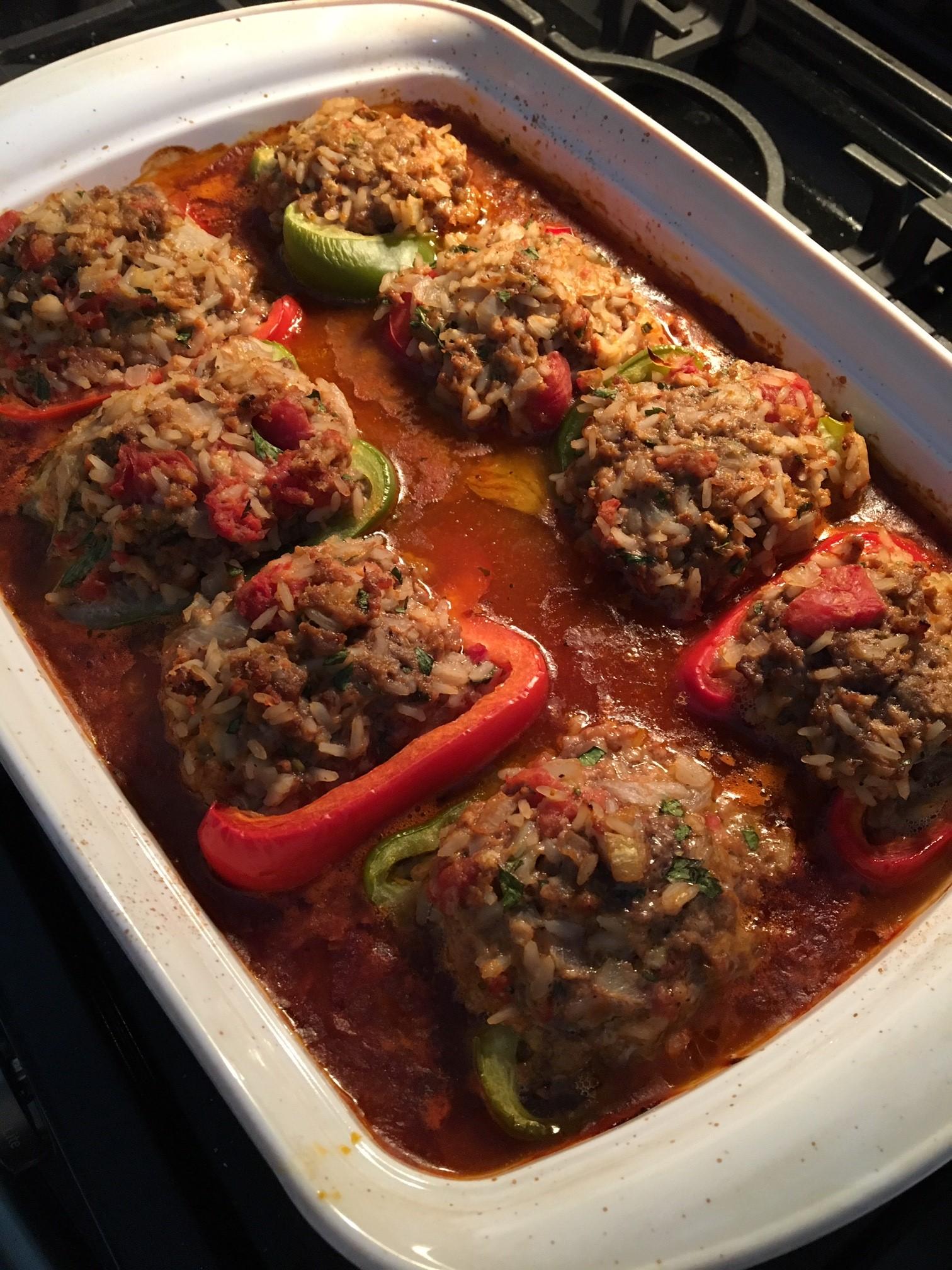 Chef John's Stuffed Peppers dat1guy