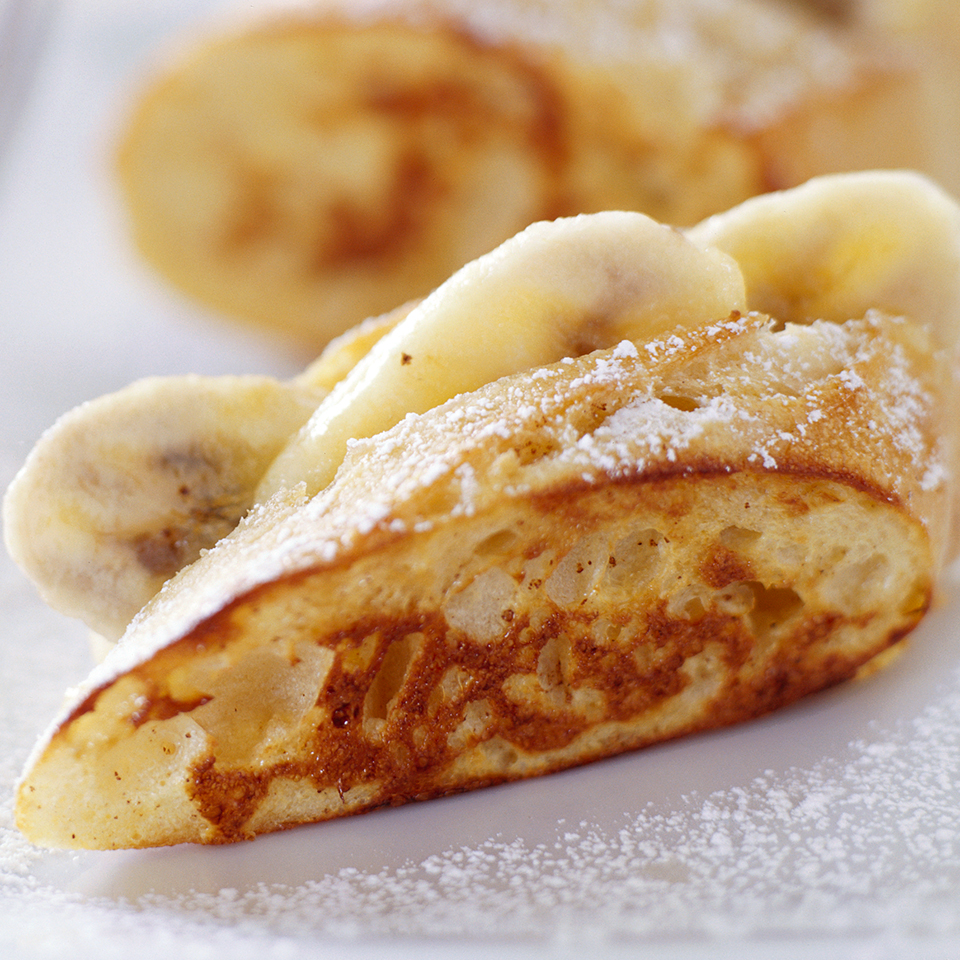 Making French toast for the family doesn't have to mean lots of last-minute fuss--not if you make this mouthwatering health-minded baked version that's stuffed with banana.Source: Diabetic Living Magazine