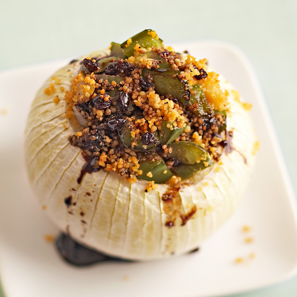 Stuffed Onions with Balsamic Drizzle Diabetic Living Magazine