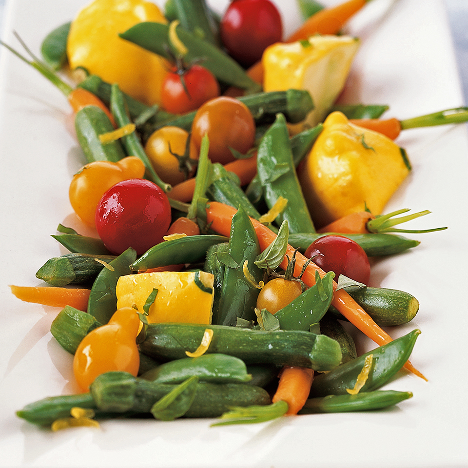 Lemon-Marinated Baby Vegetables Diabetic Living Magazine