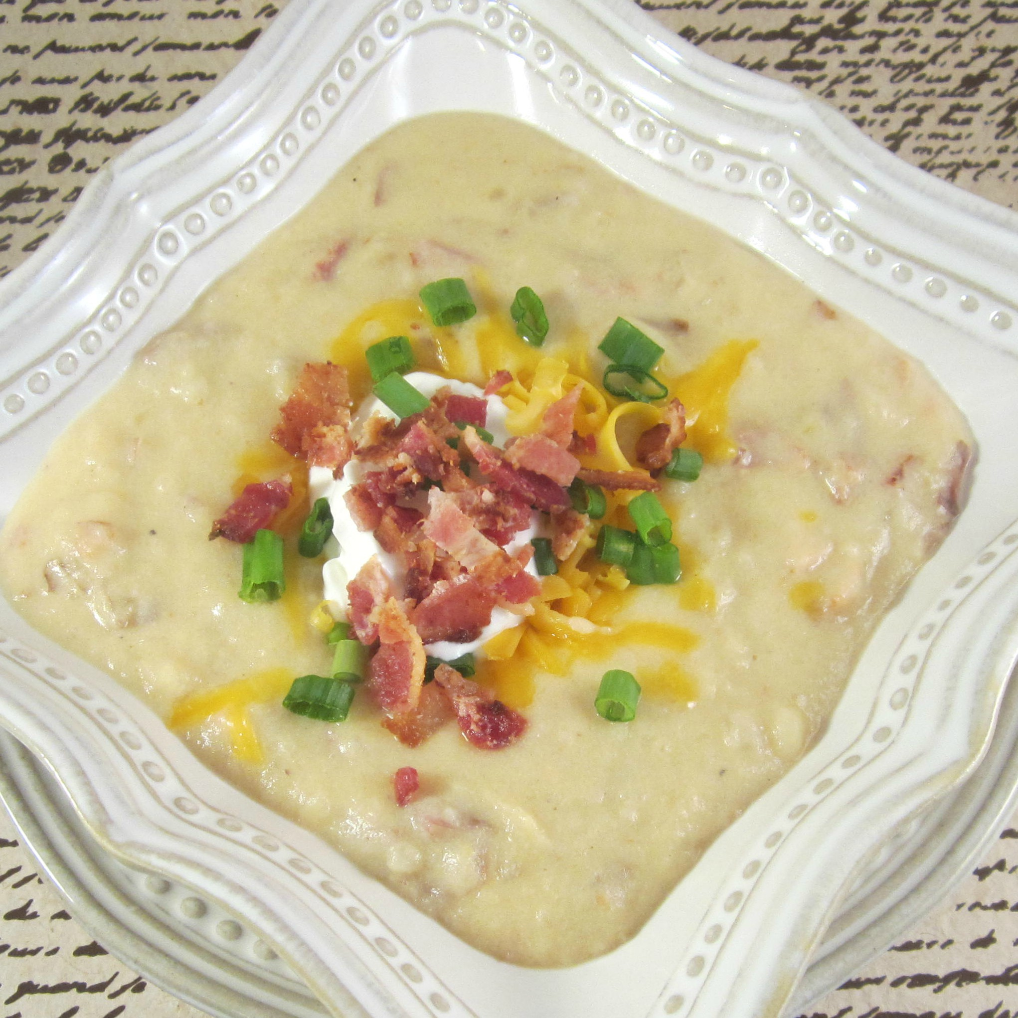 Brett's Slow Cooker Loaded Baked Potato Soup