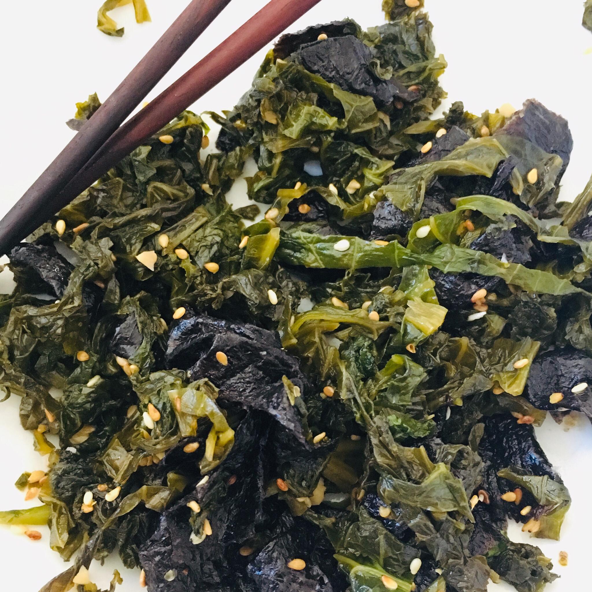 Asian-Inspired Mustard Greens