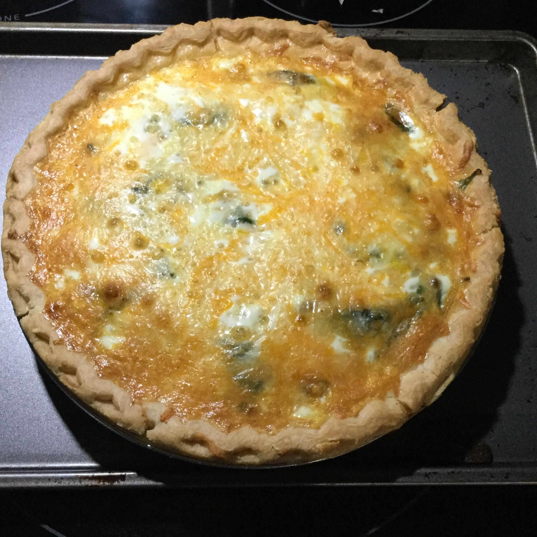 Splendid Spinach and Mushroom Quiche Janice Nowik